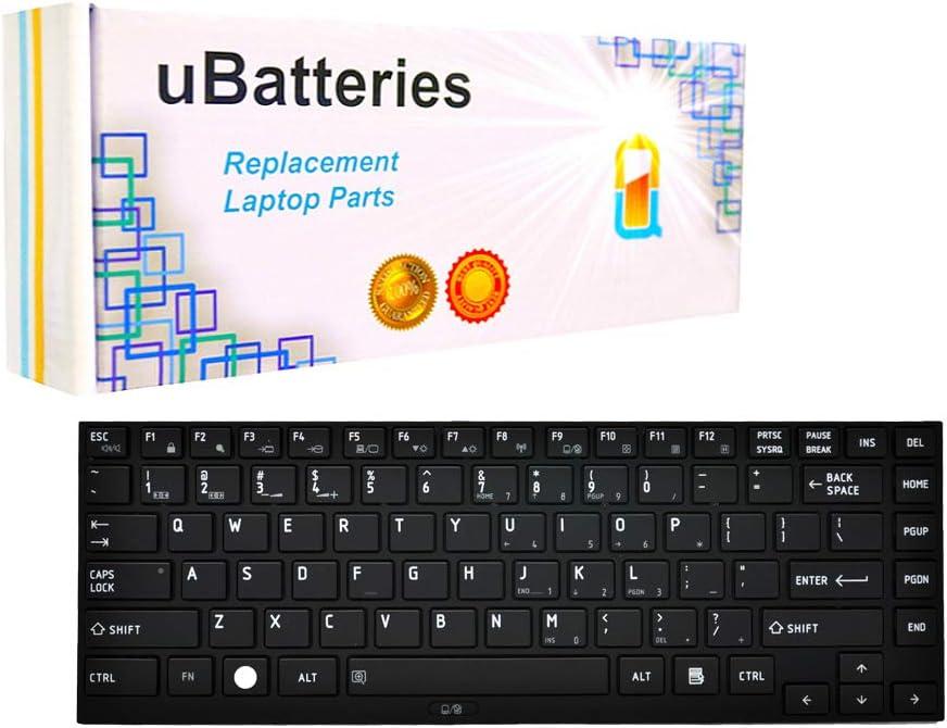 UBatteries Compatible Keyboard Replacement for Toshiba Satellite Tecra Portege R700 R705 R830 R835 R900 R930 R935 G83C000B23US G83C000B82US N860-7886-T001 N860-7886-T101 P000532170 Series - Black