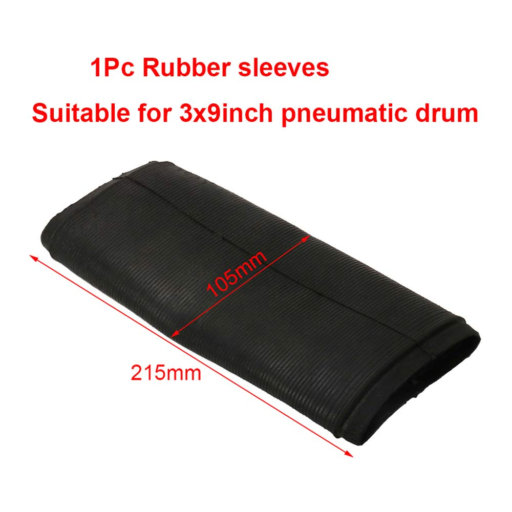 "1Pc 215x105mm Rubber Sleeve Tube Fits 3""x9"" Expandable Pneumatic Sanding Drum for Wood Polishing"