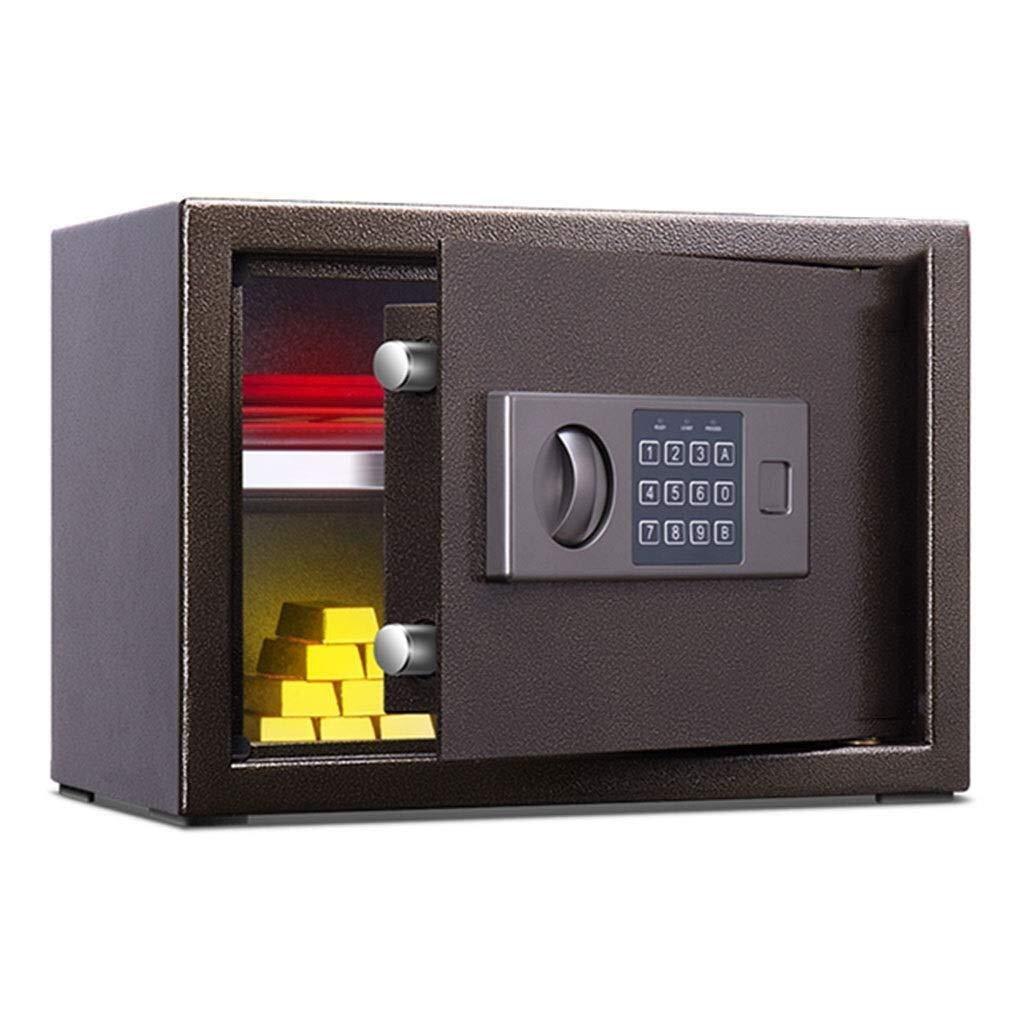 Wtbew-u セーフボックス、ホームセーフ、デジタルセーフホームファイヤーセーフオフィススモールセーフセーフティ現金セーフティボックス付きコードラージセーフ(サイズ:35 * 25 * 25 cm)