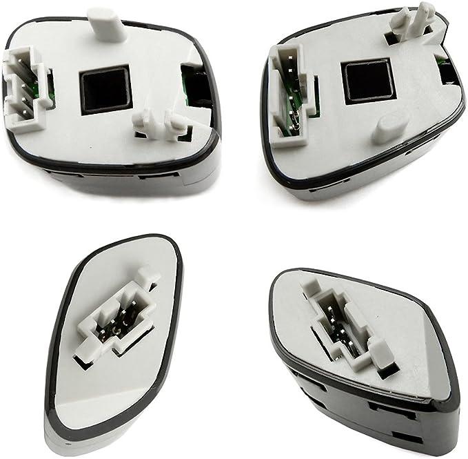 Dasbecan Steering Wheel Radio Control Switch Buttons Compatible With 03-07 GMC Sierra Chevy Silverado 03-06 GMC Yukon Chevy Tahoe 04-09 GMC Envoy Chevy Trailblazer 21997738 21997739 1999442 1999443