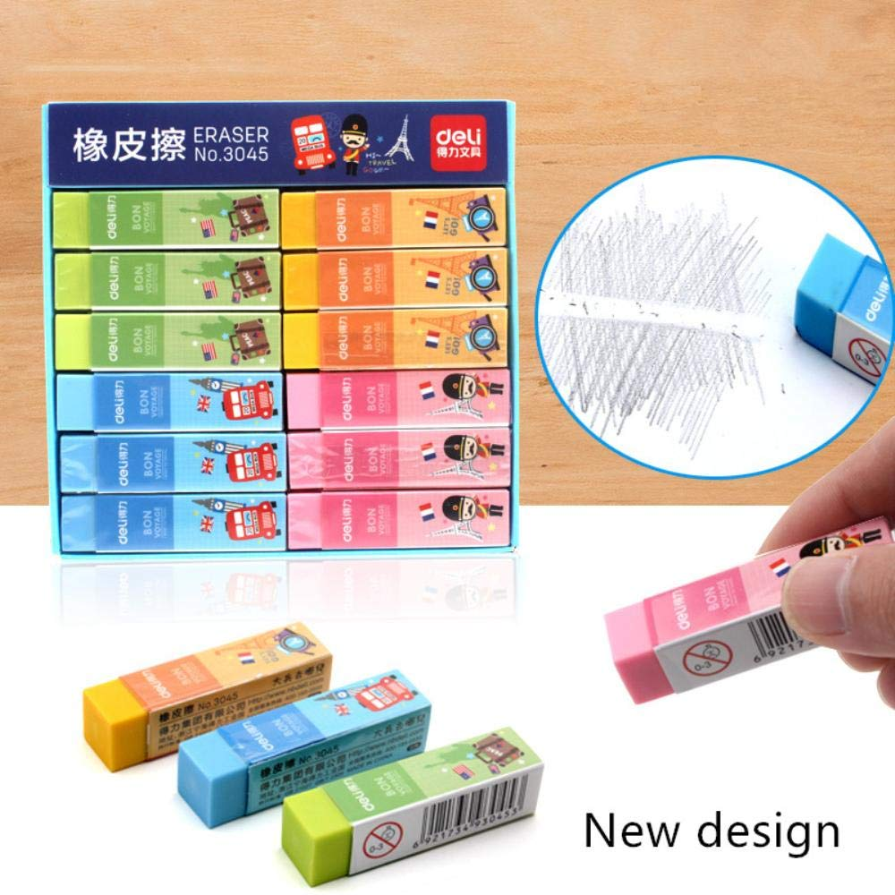 36 pcs/Lot Macaron color eraser PVC 4B colored eraser Stationery Office supplies Material escolar borrachas gomme
