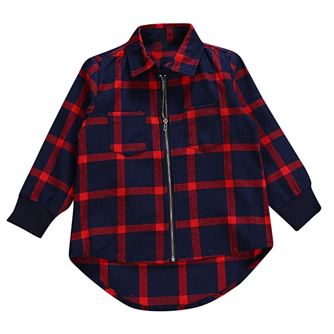 Amazon.com: SMALLE ◕‿◕ Clearance,Toddler Infant Baby Boys Long Sleeves Plaid Kids Clothing Tops Jaket: Clothing