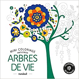 Coloriage Arbre Anti Stress.Mini Coloriage Antistress Arbres De Vie Amazon Fr Collectif Livres