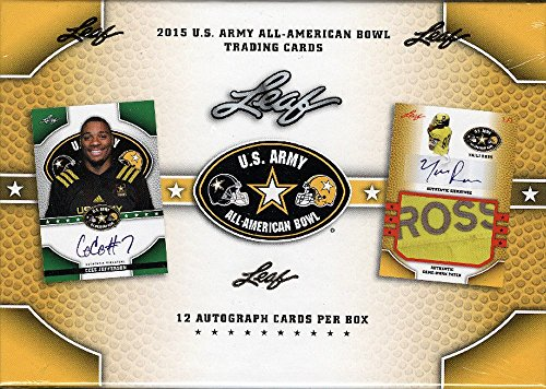 2015 Leaf U.S. Army All-American Bowl Football box (12 autograph cards) from Leaf