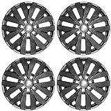 15 inch ford van hubcaps - 4pc Hub Caps Carbon Fiber Gray / Charcoal Silver / Gunmetal 15