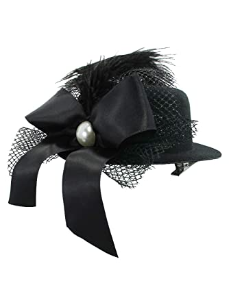 Image Unavailable. Image not available for. Color  Black Mini Top Hat  Fascinator ... 844696c68fc