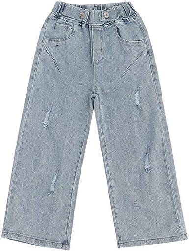 Teen Girls Jeans Fashion Holes Pantalones Anchos Para Adolescentes 8 10 12 Anos Traje De Ninos Amazon Es Ropa Y Accesorios