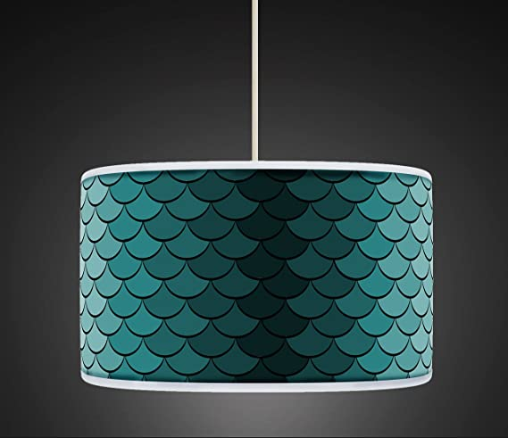 30cm peacock green rero geometric handmade giclee style printed 30cm peacock green rero geometric handmade giclee style printed fabric lamp drum lampshade floor or ceiling mozeypictures Gallery