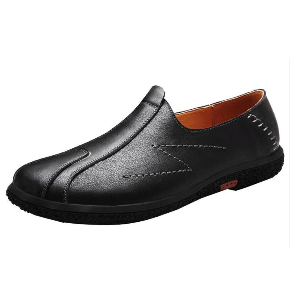 Herrenschuhe Leder Flache Loafers Frühling/Sommer / Herbst/Winter Komfort Loafers & Slip-Ons Herren Casual/Täglich Wanderschuhe/Driving Schuhes (Farbe : Schwarz, Größe : 43)