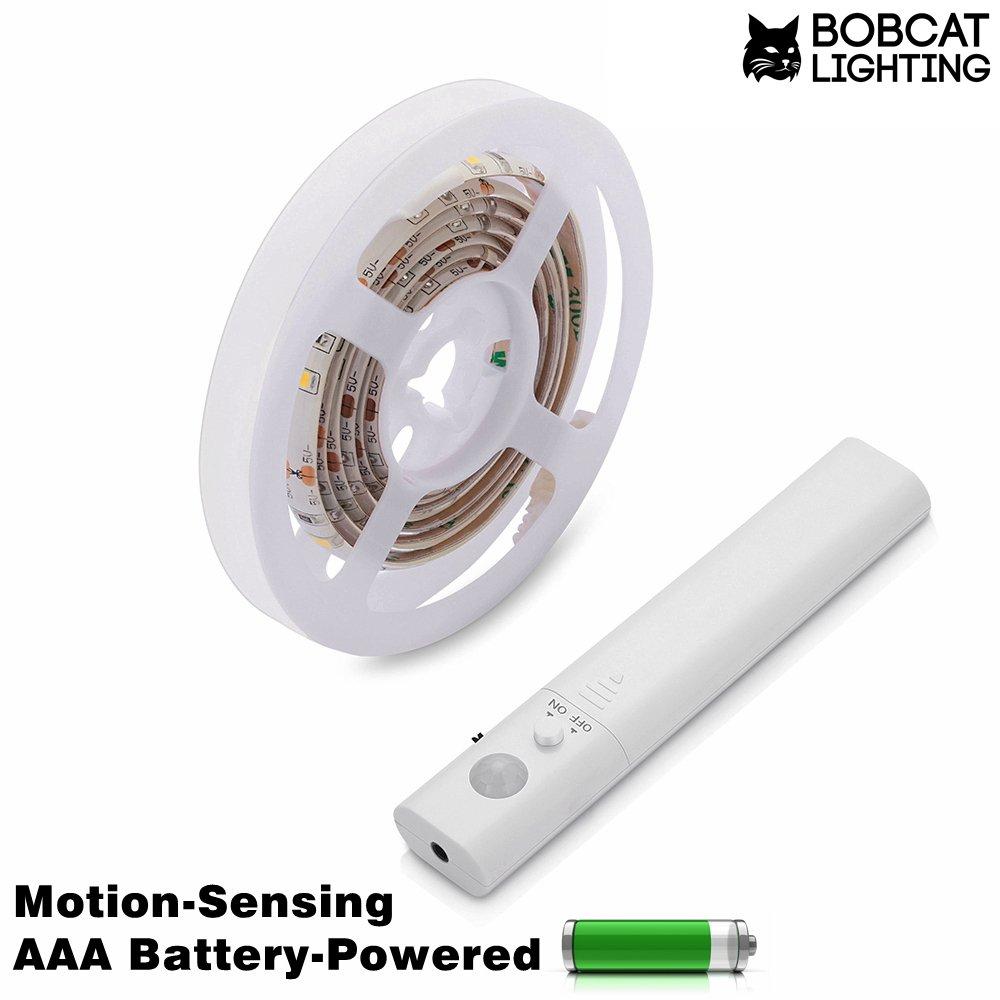 Motion Activated LEDストリップ照明forクローゼットやキャビネット下 – バッテリーPoweredモーション検知スティックAnywhere – 明るい40インチLEDストリップライト、ウォームホワイト2700 K B071FQCG1T 8931