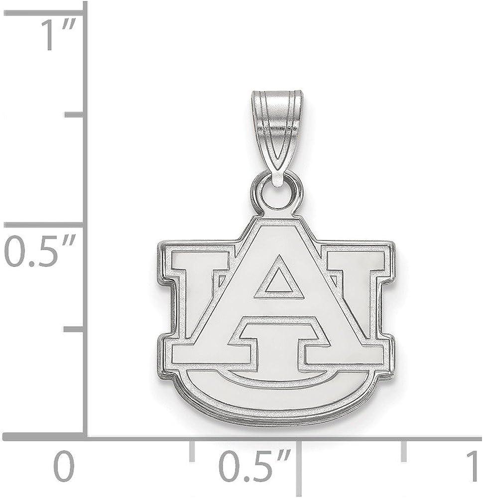 White Sterling Silver Charm Pendant Alabama NCAA Auburn University 18 mm 14