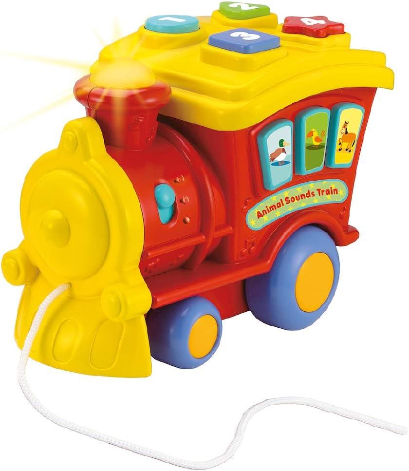 WinFun- Tren Sonidos de Animales, Color amarillo (CPA Toy Group 0677-01) , color/modelo surtido