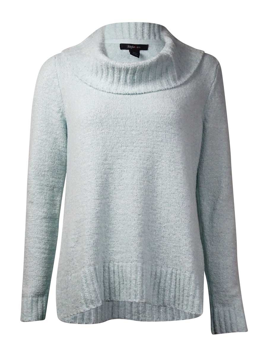 Style & Co. Women's Plush Cowl Neck Sweater (S, Thick Glass)