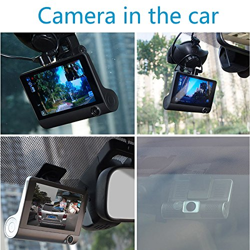 junsun 4 0 dash cam car dvr camera full hd 1080p front camera rear view camera inside. Black Bedroom Furniture Sets. Home Design Ideas