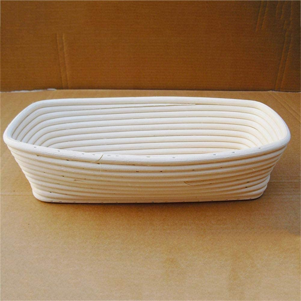 rat/án Chifans Cesta de fermentaci/ón para pan rectangular europea cesta para frutas y verduras