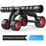 Ab Roller,Herak Abdominal Muscle AB Fitness Wheel Core Obliques Training Exercise Trainer Equipment