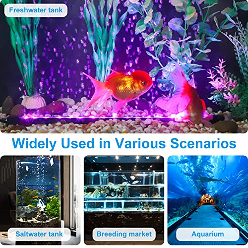 AKKEE Aquarium Light, Fish Tank Lights, Remote Control 12V 18 LEDs 5050 SMD Color Changing, Led Fish Tank Light With 24key Controller For Fresh And Saltwater Aquarium 32cm/12.6 In