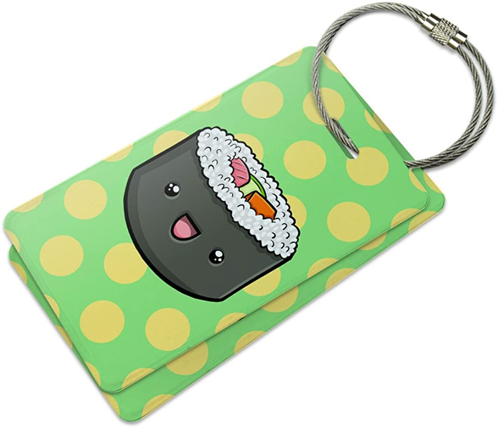 Sushi Baggage Tag For Travel Tags Accessories 2 Pack Luggage Tags