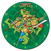 Vandor 13.5 Cordless Wood Wall Clock Teenage Mutant Ninja Turtles