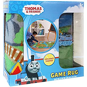 Delightful Gertmenian Thomas And Friends Rug HD Kids Play Mat Toy Train, Multi Color,