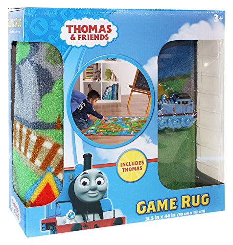 Gertmenian Thomas and Friends Rug HD Kids Play Mat Toy Train, Multi-Color, 32