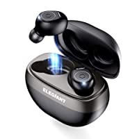 True Wireless Earbuds,ELEGIANT T50 True Wireless Headphones Latest Bluetooth 5.0 Headphones with Buit-in Mic/HiFi Stereo Sound/30-hour Play Time/Charge Box Compatible with Android and iOS Smartphones