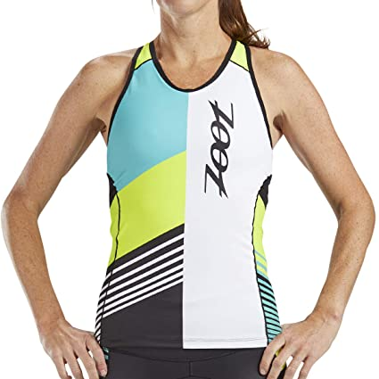 6ff260f91a1d0 Zoot Women s LTD Racerback Tri Tank - Performance Triathlon Top with  Built-in Bra and