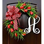 Red-Tulip-Front-Door-Wreath-with-Script-Monogram-for-Door-Decor-Mothers-Day
