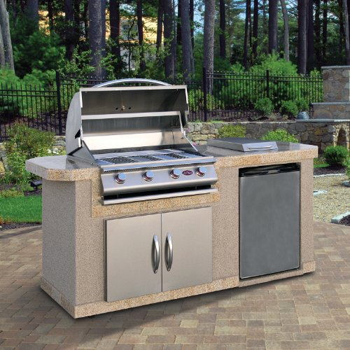 Cal Flame LBK701 Outdoor BBQ Island With 4-Burner Grill