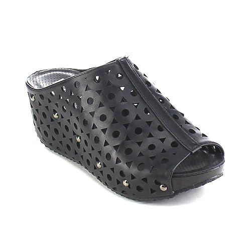 6046ed6d276cd Refresh ELVA-07 Women's Slip On Platform Wedge Sandals