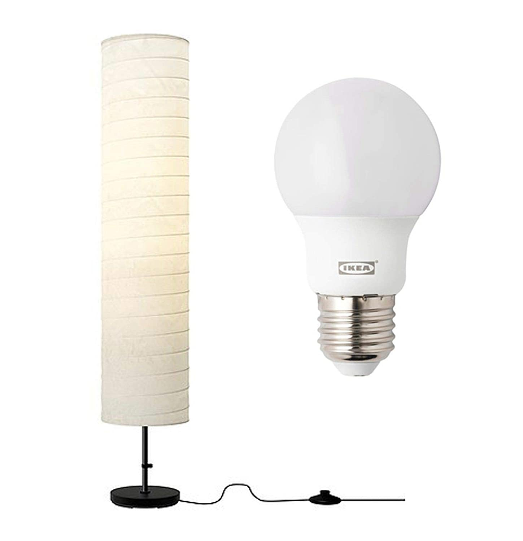 Ikea Holmo Stehlampe Lampe Gluhbirnen Set Amazon De Beleuchtung