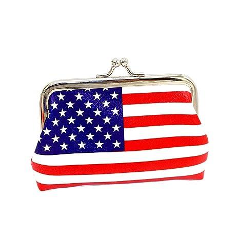 Uomo Amosfun American Flag wallet Borsa della bandiera ...