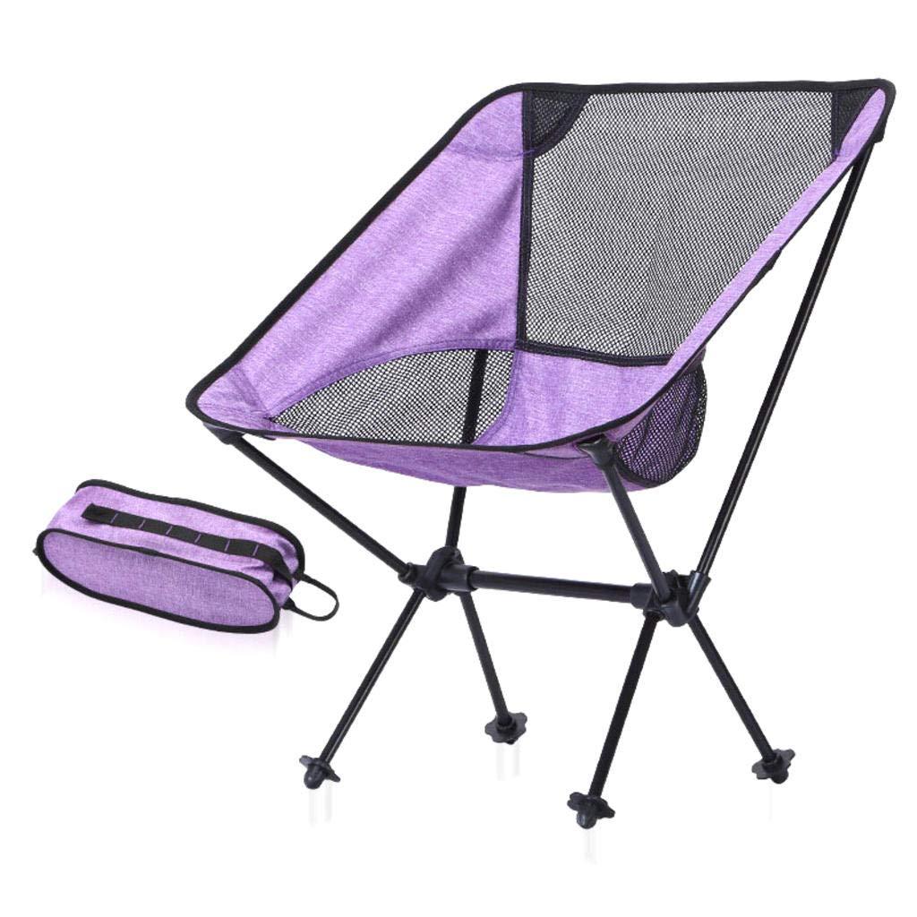 MODKOY Tragbarer Klappstuhl im Freien, Luftfahrt-Aluminiumstuhl für Das Kampieren, Fischen, Freizeit und Strand, tragendes 150KG