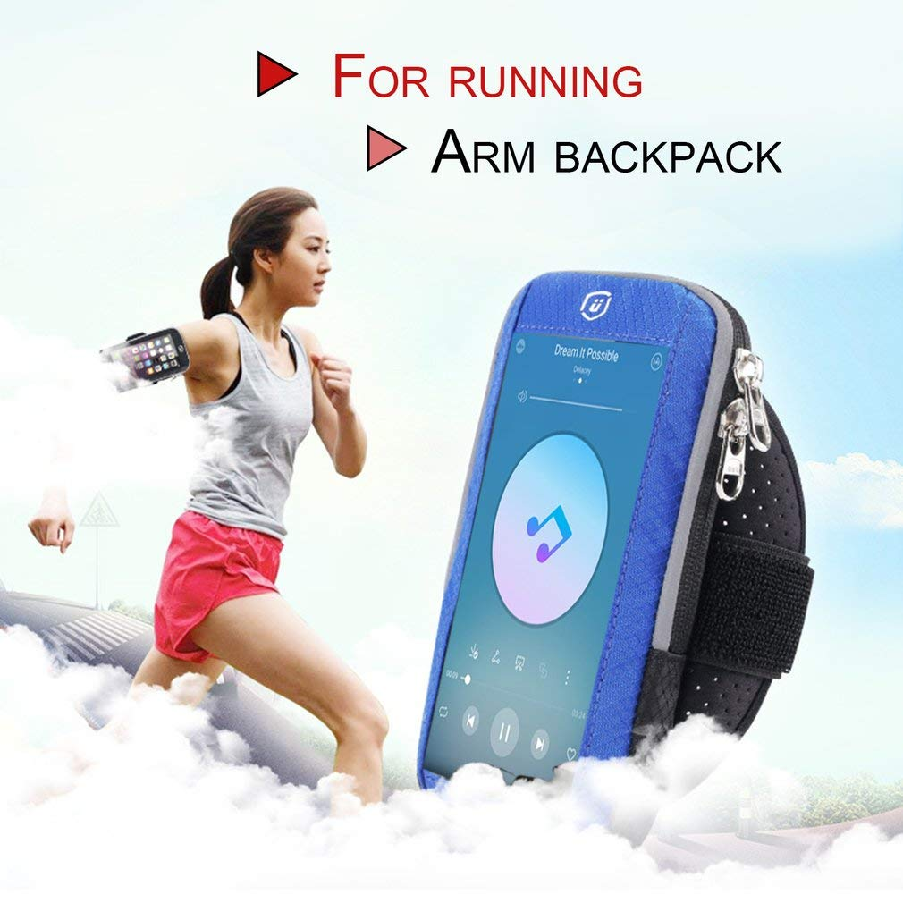 KinshopS Men Women Running Bags Touch Screen Cell Phone Arms Bag Nylon Jogging Run Bag