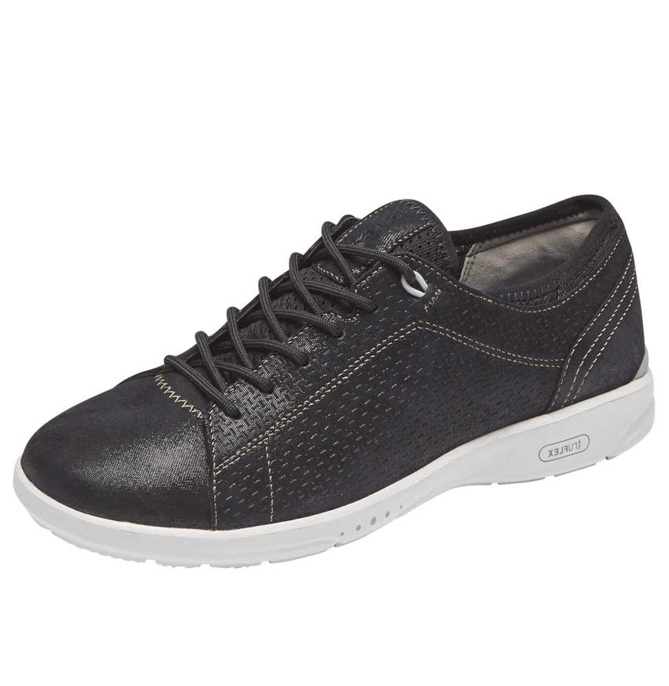 Rockport Women's Truflex W Lace to Toe Sneaker B077CRZ4TR 7.5 B(M) US|Black Shimmer