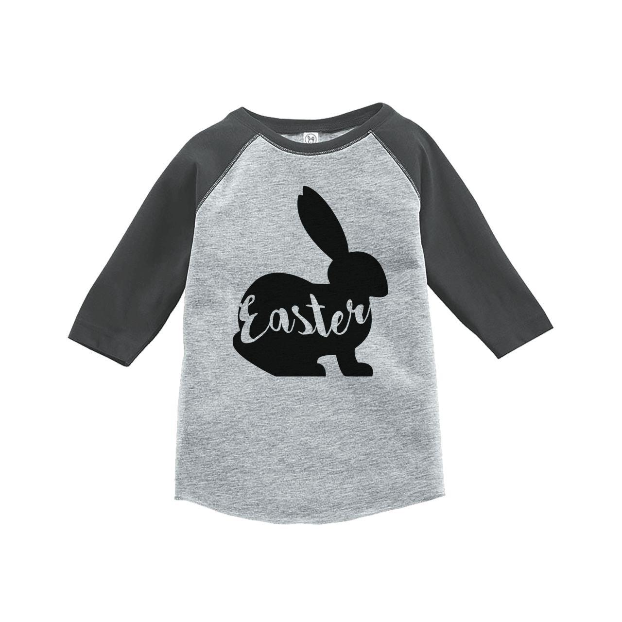 Custom Party Shop Babys Easter Bunny Happy Easter Grey Raglan