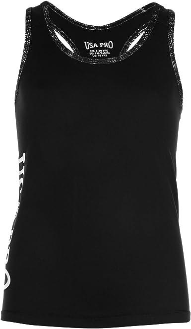 USA Pro Niños Pro Camiseta De Tirantes Gl84 Negro S (7-8 años ...