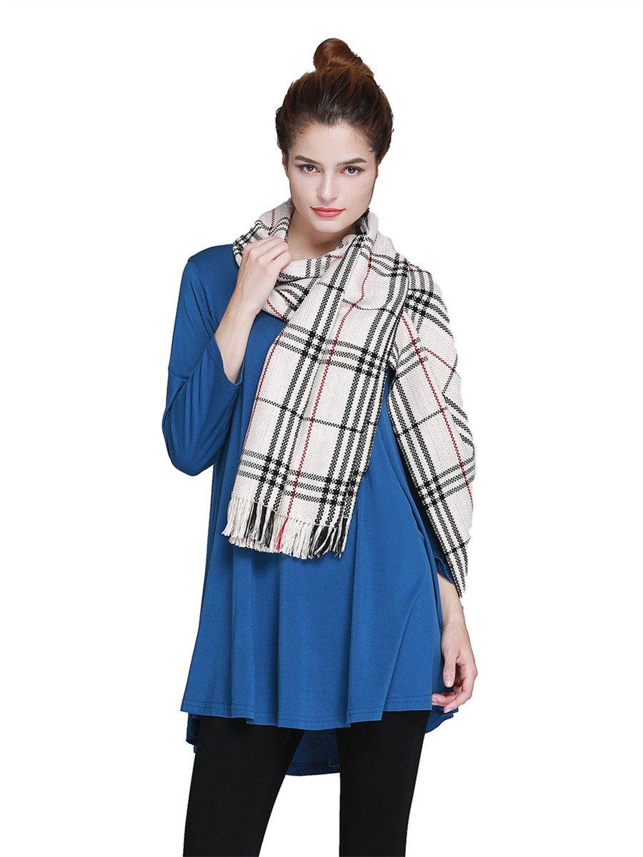 beda8be347b JollieLovin Womens 3 4 Sleeve Loose Fit Swing Tunic Tops Basic T Shirt  (Deep Gray