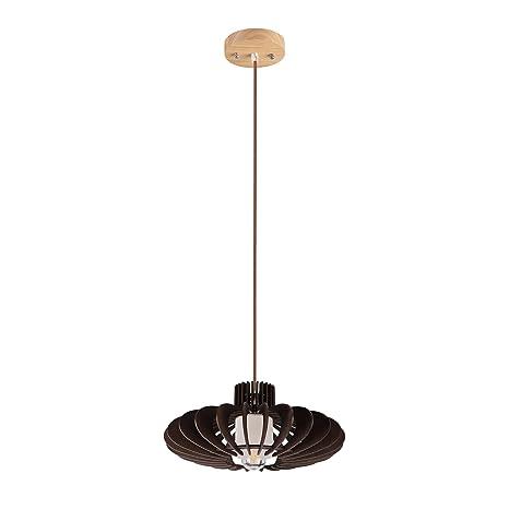 Amazon.com: maykke farolillo, lámpara de techo de madera ...