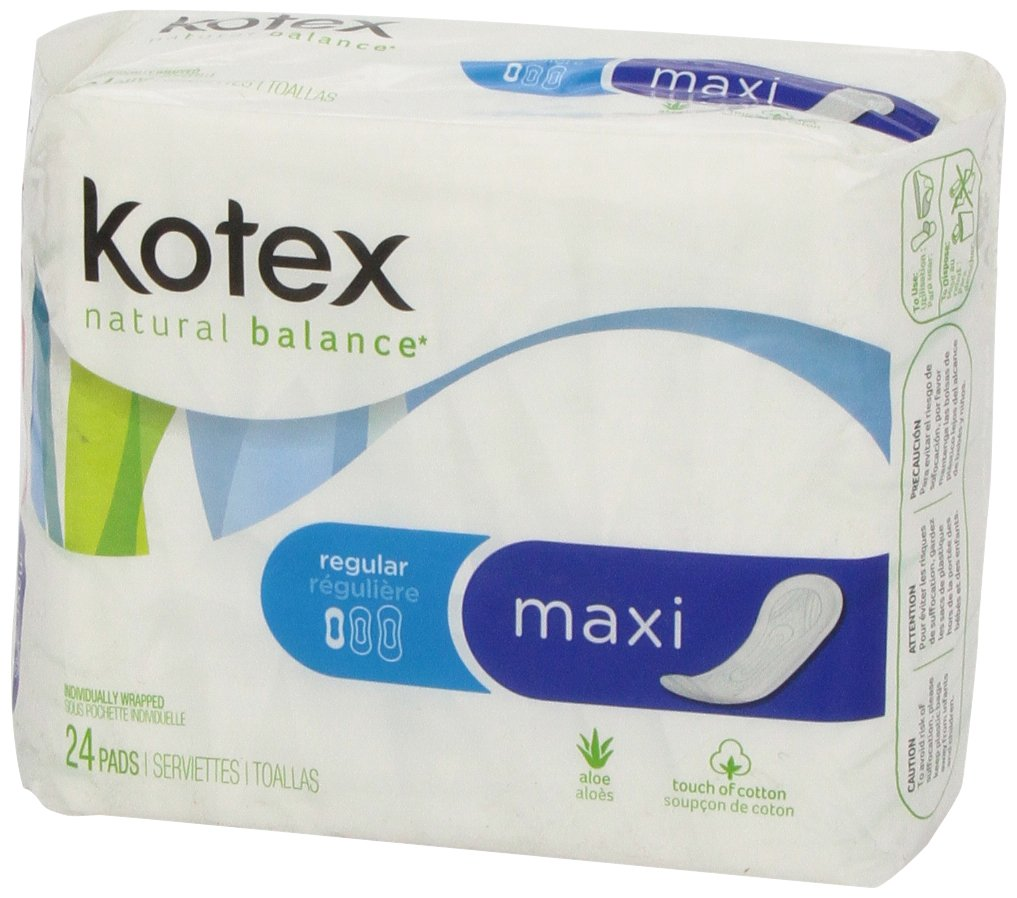 Amazon.com: Kotex U Reg Sect Maxi 24c Size 24ct U By Kotex Regular Security Maxi 24ct: Health & Personal Care