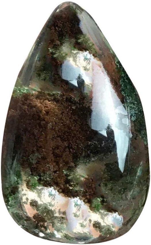 bismarckber - Colgante con Forma de Gota de Agua de Fantasma Falso, Piedra Fantasma de Cuarzo, para bisutería, Manualidades, Regalo