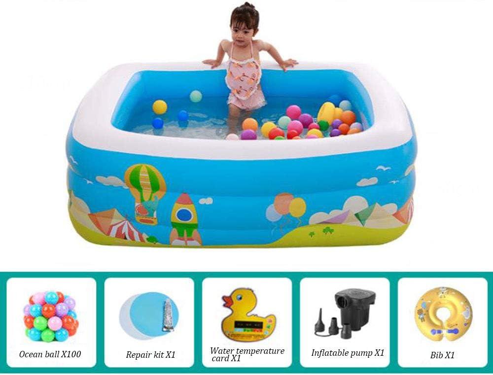 Centro de natación inflable Piscina para niños Kiddie Bebé Adultos Fiesta de verano Jugar con agua Juguete al aire libre Relajarse Mantener fresco Salón del acuario-D: Amazon.es: Hogar