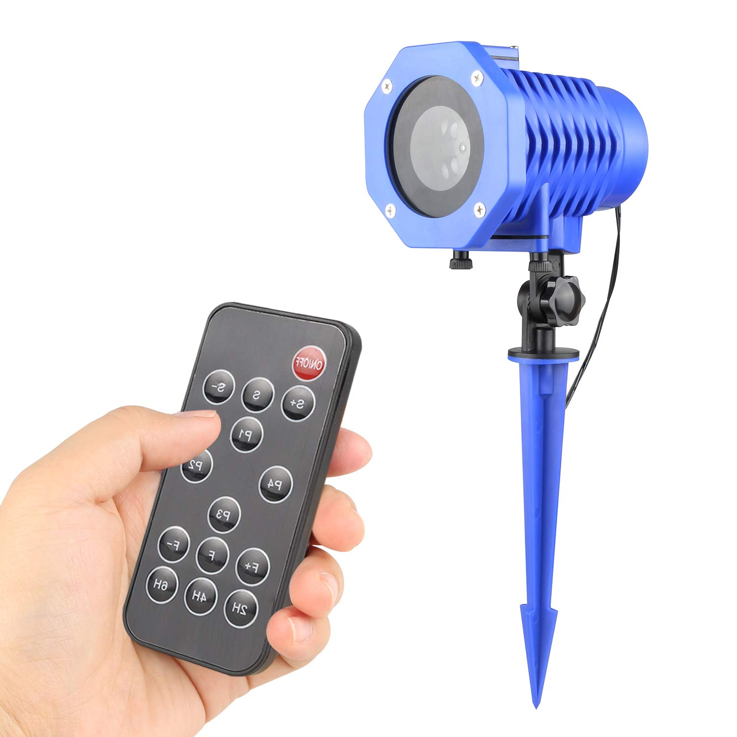 Led Christmas Projector Light Or Laser Light with Automatic Timers and RF Wireless Remote (Blue)