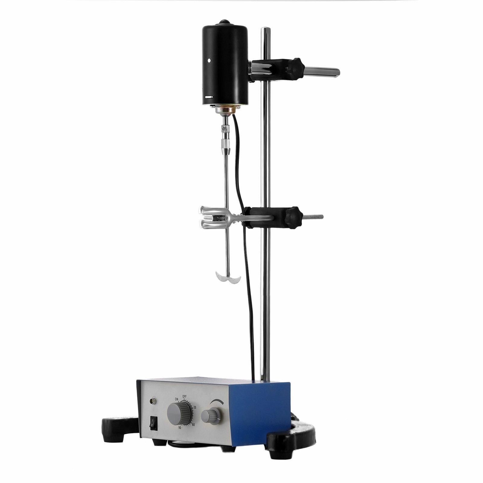 Mophorn Electric Overhead Stirrer Mixer 0-2000 RPM Overhead Stirrer Mixer 100W Lab Mixer Blender Variable Speed 0-120 Minutes Overhead Stirrer by Mophorn (Image #2)