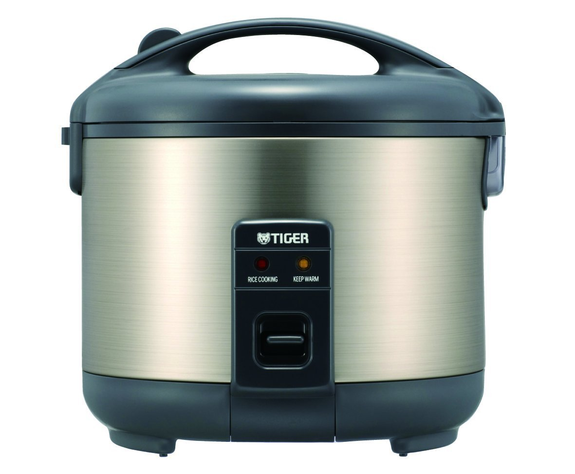 Tiger JNP-S15U-HU Rice Cooker and Warmer, Stainless Steel Gray, 8-Cup
