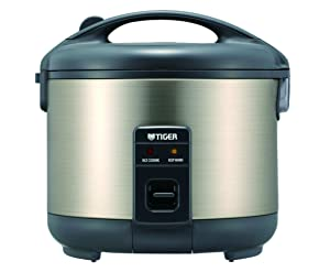 Tiger JNP-S55U-HU 3-Cup (Uncooked) Rice Cooker and Warmer, Stainless Steel Gray