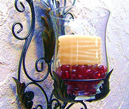 Glass gems vase fillers scarlet red 1 lb 15 17mm for 15 creative vase fillers