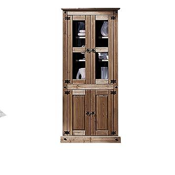 Vitrina Rústica fabricada en madera maciza, con 2 puertas ...