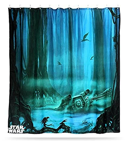 Star Wars X Wing Dagobah Shower Curtain