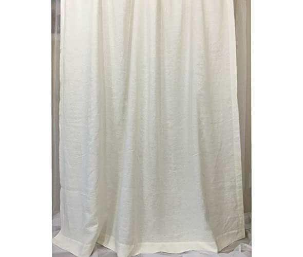 Amazon White Linen Shower Curtains Mildew Free 72x72 72x85 72x94 Bathroom Curtain Decor Handmade